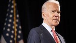 Former Vice President Joe Biden, 2020 Democratic presidential candidate, speaks during a news conference in Wilmington, Delaware, U.S., on Thursday, March 12, 2020. Biden sought to deliver an antidote to President Donald Trump's response to the coronavirus outbreak on Thursday, unveiling a new plan that shows how he would fight the spread of the virus and urging the administration to use it. Photographer: Ryan Collerd/Bloomberg