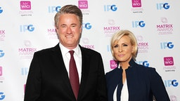 NEW YORK, NY - APRIL 23: TV co-host Joe Scarborough and news presenter Mika Brzezinski attend 2018 Matrix Awards at Sheraton New York Times Square on April 23, 2018 in New York City.