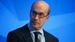 Kenneth Rogoff, professor of economics at Harvard University, looks on during a panel session at the World Economic Forum (WEF) in Davos, Switzerland, on Tuesday, Jan. 17, 2017. World leaders, influential executives, bankers and policy makers attend the 47th annual meeting of the World Economic Forum in Davos from Jan. 17 - 20.