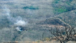 CALABASAS, CA - JANUARY 26: The site of a helicopter crash that claimed the lives of former NBA great Kobe Bryant and his daughter Gianna Bryant, 13, is shown January 26, 2020 in Calabasas, California. Nine people onboard the helicopter perished in the crash, according to published reports.
