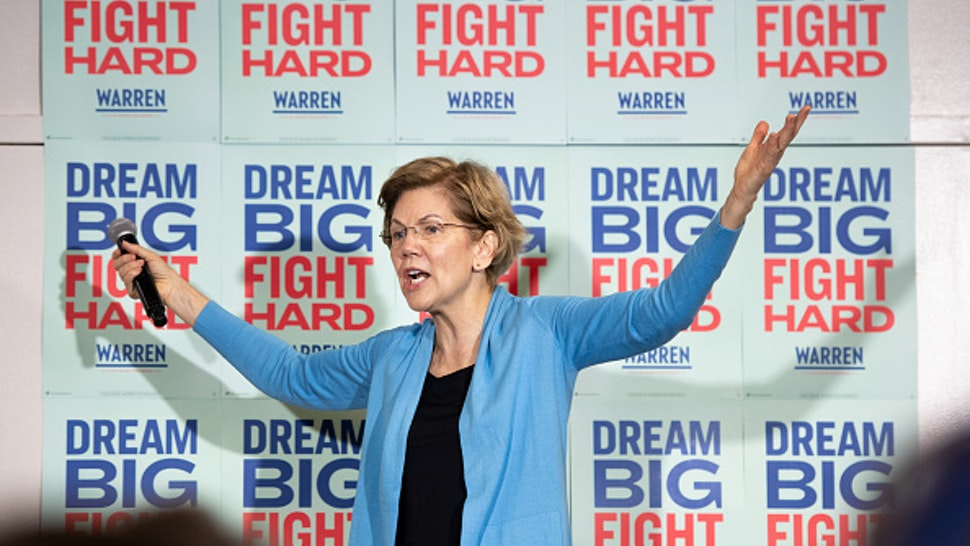 COLUMBIA, SC - FEBRUARY 29: Democratic presidential candidate Sen. Elizabeth Warren (D-MA) addresses a crowd during a canvassing kickoff event February 29, 2020 in Columbia, South Carolina. South Carolinians will participate in the Democratic presidential primary today.
