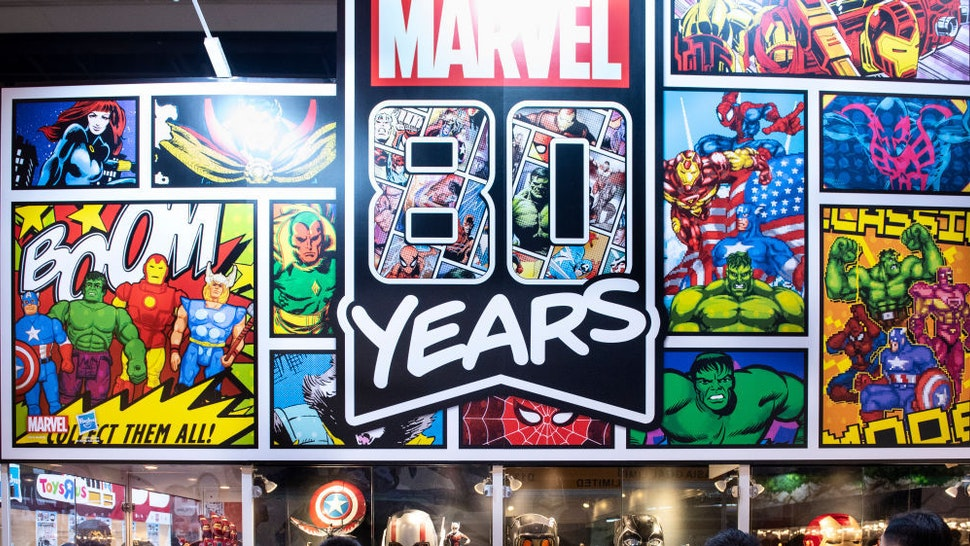 Visitors and customers seen at Disney's Marvel Studio booth during the Ani-Com & Games event in Hong Kong. (Photo by Budrul Chukrut/SOPA Images/LightRocket via Getty Images)