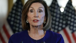 WASHINGTON, DC - SEPTEMBER 24: U.S. House Speaker Nancy Pelosi (D-CA) speaks to the media at the Capitol Building September 24, 2019 in Washington, DC. Pelosi announced a formal impeachment inquiry today after allegations that President Donald Trump sought to pressure the president of Ukraine to investigate leading Democratic presidential contender, former Vice President Joe Biden and his son, which was the subject of a reported whistle-blower complaint that the Trump administration has withheld from Congress