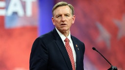 OXON HILL, MD, UNITED STATES - 2019/02/28: U.S. Representative Paul Gosar (R-AZ) seen speaking during the American Conservative Union's Conservative Political Action Conference (CPAC) at the Gaylord National Resort & Convention Center in Oxon Hill, MD.