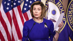WASHINGTON, DC - MARCH 05: Speaker of the House Nancy Pelosi (D-CA) holds her weekly press conference on Capitol Hill on March 5, 2020 in Washington, DC.