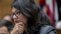 Representative Rashida Tlaib, a Democrat from Michigan, listens during a House Financial Services Committee hearing with David Marcus, head of blockchain with Facebook Inc., not pictured, in Washington, D.C., U.S., on Wednesday, July 17, 2019. Republican and Democratic Senators sharply questioned Facebook Inc.'s plan to create its own digital money, adding to a chorus of skepticism across Washington and underscoring the challenges the company faces in getting its cryptocurrency off the ground.