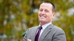 08 November 2019, Berlin: Richard Grenell, Ambassador of the United States to Germany, stands in front of the Department of Defense and waits for the US Secretary of State and the German Secretary of Defense.