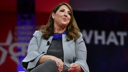 NATIONAL HARBOR, MD - FEBRUARY 28: Ronna McDaniel, Chair of the Republican National Committee speaks during a session at CPAC 2019 on February 28, 2019 in National Harbor, Md.