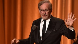 US filmmaker Steven Spielberg speaks at the 10th Annual Governors Awards gala hosted by the Academy of Motion Picture Arts and Sciences at the the Dolby Theater at Hollywood & Highland Center in Hollywood, California on November 18, 2018.