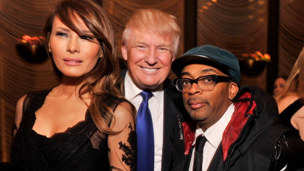 NEW YORK, NY - MARCH 14: Melania Trump, businessman/TV personality Donald Trump, and filmmaker Spike Lee attend The New York Observer 25th Anniversary Party at Four Seasons Restaurant on March 14, 2013 in New York City.