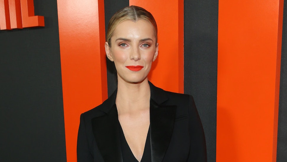 """Betty Gilpin attends the premiere of Universal Pictures' """"The Hunt"""" at ArcLight Hollywood on March 09, 2020 in Hollywood, California. (Photo by Phillip Faraone/WireImage)"""