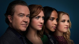 L-R: Timothy Hutton as Dr. Leon Bechley, Brittany Snow as Julia Bechley, Megalyn Echikunwoke as Edie Palmer and Emily Osment as Roxy Doyle in Season 1 of ALMOST FAMILY premiering Wednesday, October 2 (9:00-10:00pm PM ET/PT) on FOX. (Photo by FOX via Getty Images)