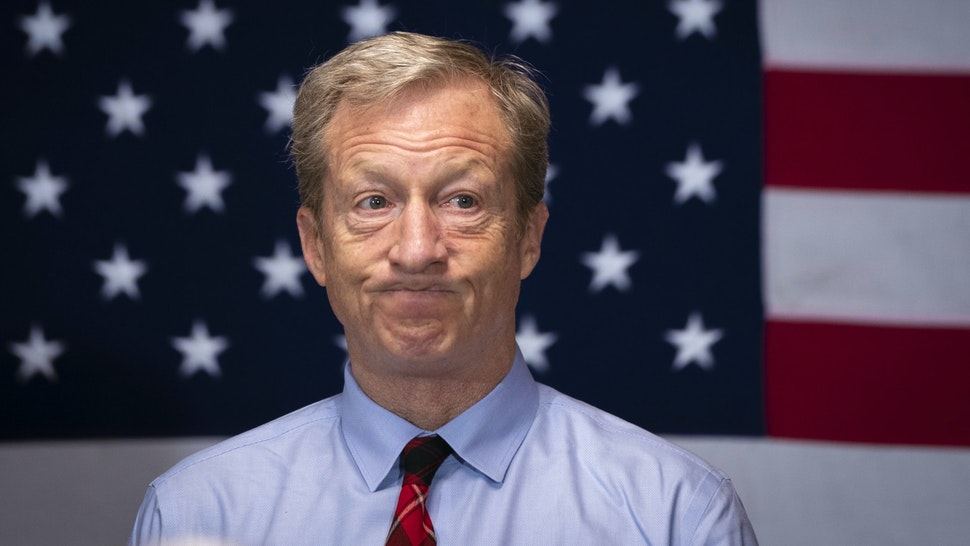 ORANGEBURG, SC - FEBRUARY 27: Democratic presidential candidate Tom Steyer at a town hall meeting on rural healthcare issues on February 27, 2020 in Orangeburg, South Carolina. South Carolina holds its Democratic presidential primary on Saturday, February 29.