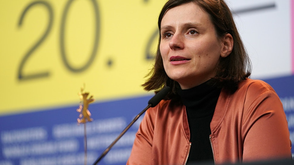 """BERLIN, GERMANY - FEBRUARY 29: Sandra Wollner, winner of the 'Encounters' Special Jury Award for the film """"The Trouble With Being Born"""" is seen at the award winners press conference during the 70th Berlinale International Film Festival Berlin at Grand Hyatt Hotel on February 29, 2020 in Berlin, Germany."""