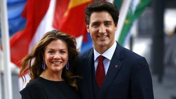 HAMBURG, GERMANY - JULY 07: Prime Minister of Canada Justin Trudeau with his wife Sophie Trudeau arrive to attend a concert at the Elbphilharmonie philharmonic concert hall on the first day of the G20 economic summit on July 7, 2017 in Hamburg, Germany. The G20 group of nations are meeting July 7-8 and major topics will include climate change and migration.