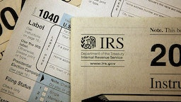 CHICAGO - NOVEMBER 1: Current federal tax forms are distributed at the offices of the Internal Revenue Service November 1, 2005 in Chicago, Illinois. A presidential panel today recommended a complete overhaul of virtually every tax law for individuals and businesses. (Photo Illustration by