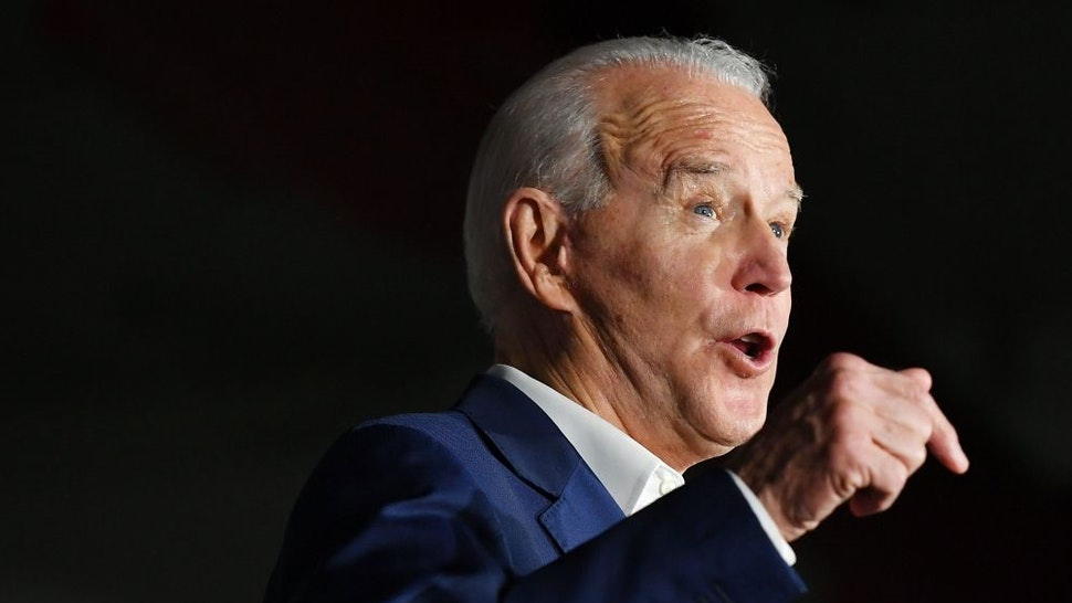 Democratic presidential candidate Joe Biden speaks during a rally at Tougaloo College in Tougaloo, Mississippi on March 8, 2020. (Photo by MANDEL NGAN / AFP) (Photo by
