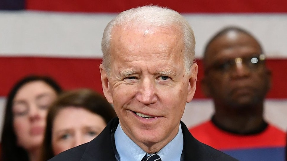 Democratic presidential candidate Joe Biden speaks during a campaign stop at Driving Park Community Center in Columbus, Ohio on March 10, 2020. (Photo by MANDEL NGAN / AFP) (Photo by