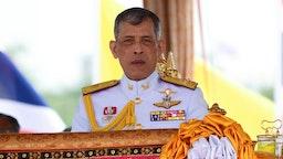 Thai King Maha Vajiralongkorn presides over the annual royal ploughing ceremony at the Sanam Luang park in Bangkok, Thailand. 09 May, 2019. (Photo by