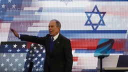 WASHINGTON, DC - MARCH 02: Democratic presidential candidate former New York Mayor Michael Bloomberg speaks during the American Israel Public Affairs Committee (AIPAC) policy conference, on March 2, 2020 in Washington, DC. AIPAC is the lobbying group that advocates pro-Israel policies in the U.S. (Photo by