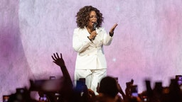 INGLEWOOD, CALIFORNIA - FEBRUARY 29: Oprah speaks onstage during 'Oprah's 2020 Vision: Your Life in Focus Tour' presented by WW (Weight Watchers Reimagined) at The Forum on February 29, 2020 in Inglewood, California. (Photo by