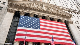 NEW YORK CITY, UNITED STATES - 2020/02/17: A view of the New York Stock Exchange, or NYSE, which is the world's largest stock trading platform located at 11 Wall Street, Lower Manhattan.
