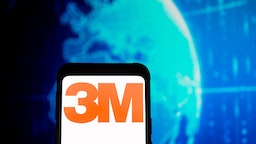 POLAND - 2020/03/23: In this photo illustration a 3M logo seen displayed on a smartphone.
