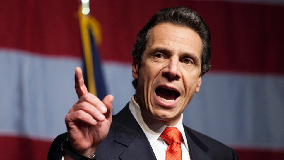 New York Governor-elect Andrew Cuomo speaks to supporters at the Sheraton New York on election night, November 2, 2010 in New York City.