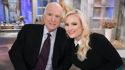 "It's Meghan McCain's Birthday with a special visit from her father, Senator John McCain on ""The View,"" airing Monday, October 23, 2017 on Walt Disney Television via Getty Images's ""The View."""