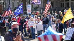 Hundreds of protesters gathered outside the Minnesota Governor's Residence. Liberate Minnesota and other groups opposed to Gov. Tim Walz's stay home orders protested outside the governor's residence in St. Paul.
