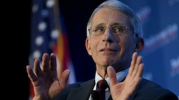 Dr. Anthony Fauci, director of the National Institute of Allergy and Infectious Diseases, discusses the Zika virus during remarks before the Economic Club of Washington January 29, 2016 in Washington, DC.