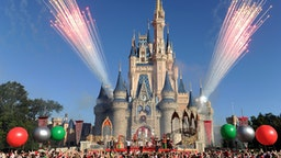 """In this handout photo provided by Disney Parks, English-Irish boy band The Wanted performs """"Santa Claus is Coming To Town"""" while taping the Disney Parks Christmas Day Parade TV special December 6, 2013 at the Magic Kingdom park at Walt Disney World Resort in Lake Buena Vista, Florida."""