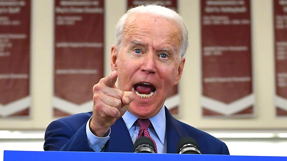 Democratic presidential candidate former Vice President Joe Biden gestures as he speaks during a campaign rally at Renaissance High School in Detroit, Michigan on March 9, 2020.