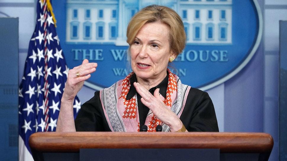 Response coordinator for White House Coronavirus Task Force Deborah Birx speaks during the daily briefing on the novel coronavirus, COVID-19, in the Brady Briefing Room at the White House on April 2, 2020, in Washington, DC.