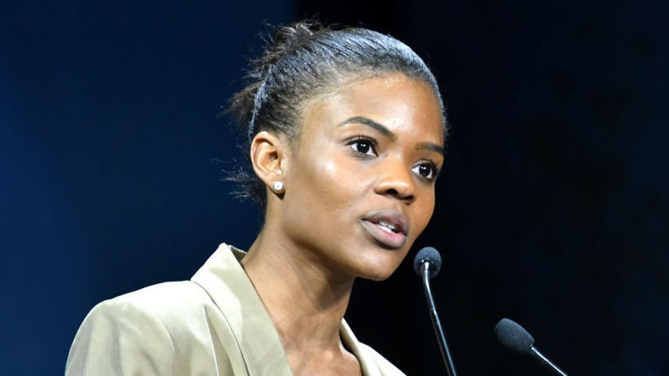 US activist Pro-Trump Candace Owens Gives Speech during Convention De La Droite with Marion Marechal Le Pen, in Paris, France, on September 28, 2019. (Photo by Daniel Pier/NurPhoto via Getty Images)