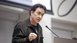 Actor John Cusack speaks during a Chicago Teachers Union Strike Authorization Vote Rally in Chicago, Illinois, U.S., on Tuesday, Sept. 24, 2019. Mayor Lori Lightfoot has been studying lots of numbers as she prepares Chicago's budget, and her first big test may come from the citys teachers this week.