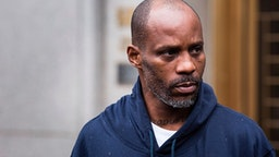 Hip-hop recording artist Earl Simmons, aka DMX leaves the U.S. District Court after being arraigned, July 14, 2017, in New York City. Simmons is accused engaging in a multi-year scheme to conceal millions of dollars of income from the IRS and to avoid paying $1.7 million of tax liabilities /