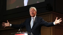 Former US President Bill Clinton, speaking at a Concern Worldwide conference in Dublin.