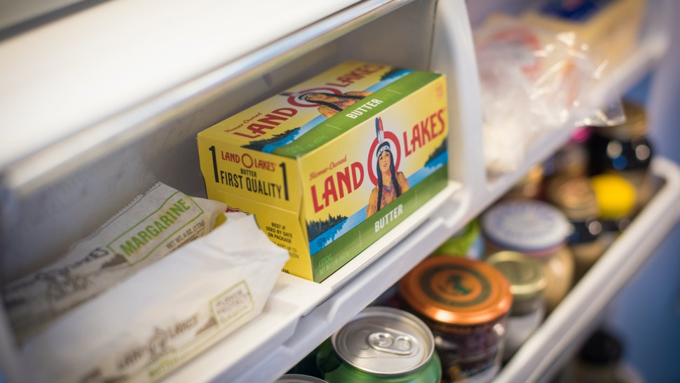 container of Land O'Lakes Inc. brand butter is displayed for a photograph in Dobbs Ferry, New York, U.S., on Wednesday, Feb. 20, 2019. With 2018 annual sales of $15 billion, Land O'Lakes is one of the nation's largest cooperatives. Photographer: Tiffany Hagler-Geard/Bloomberg