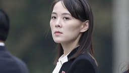Kim Yo Jong, sister of North Korean leader Kim Jong Un, attends a wreath laying ceremony at the Ho Chi Minh Mausoleum in Hanoi, Vietnam, on Saturday, March 2, 2019.