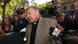 MELBOURNE, AUSTRALIA - FEBRUARY 27: Cardinal George Pell arrives at Melbourne County Court on February 27, 2019 in Melbourne, Australia. Pell, once the third most powerful man in the Vatican and Australia's most senior Catholic, was found guilty on 11 December in Melbourne's county court, but the result was subject to a suppression order and was only able to be reported from Tuesday. The jury was unanimous in their verdict, finding Pell guilty on five counts of child sexual assault in December 1996 and early 1997 at St Patrick's Cathedral. (Photo by Michael Dodge/Getty Images)