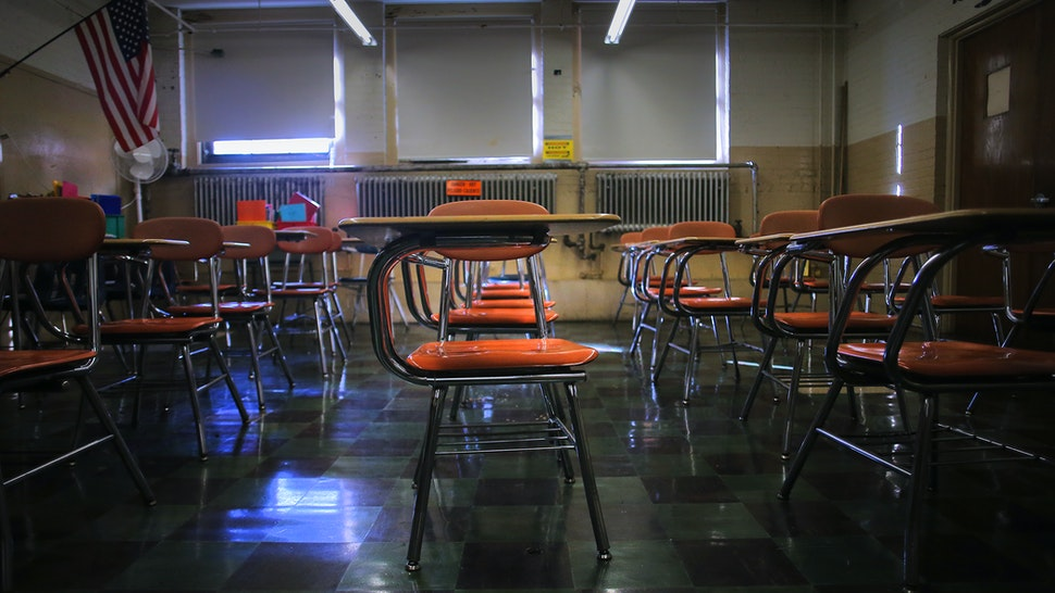 LYNN, MA - OCTOBER 24: A classroom at the Pickering Middle School in Lynn, MA is pictured on Oct. 24, 2019. Gateway cities like Lynn, midsize urban centers whose lower property values are a draw for lower-income households, are slated to be among the big winners in the sweeping school-funding reform bill signed into law last week by Governor Charlie Baker. Such districts are expected to see millions in fresh spending from the new law - a down payment meant to reverse yawning student achievement gaps fueled by years of underinvestment. But even as city officials celebrate passage of a law that will dramatically increase spending on students, they must face a sobering truth: The extra money will probably do little to address Lynns tumbledown schools, complicating efforts to improve services to its surging ranks of low-income s