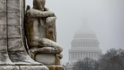 WASHINGTON, DC - DECEMBER 17: A dense fog settles over the U.S. Capitol on December 17, 2019 in Washington, DC. The House Rules Committee is holding a full committee hearing to set guidelines for the upcoming vote in the House of Representatives on the two articles of impeachment against U.S. President Donald Trump. (Photo by Samuel Corum/Getty Images)