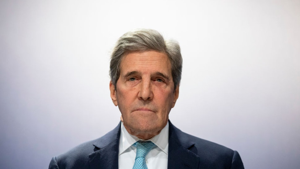 Former US Secretary of State John Kerry attends to a conference at the COP25 Climate Conference on December 10, 2019 in Madrid, Spain.