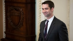 Sen. Tom Cotton (R-AR) walks to the Senate floor for the start of impeachment trial proceedings at the U.S. Capitol on January 21, 2020 in Washington, DC.