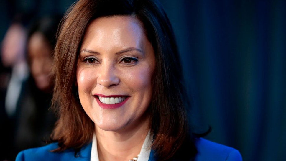 Michigan Gov. Gretchen Whitmer speaks at the General Motors Detroit- Hamtramck assembly plant on January 27, 2020 in Detroit, Michigan.