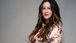 27 February 2020, Bavaria, Munich: Alanis Morissette, Canadian singer, recorded at a press event.