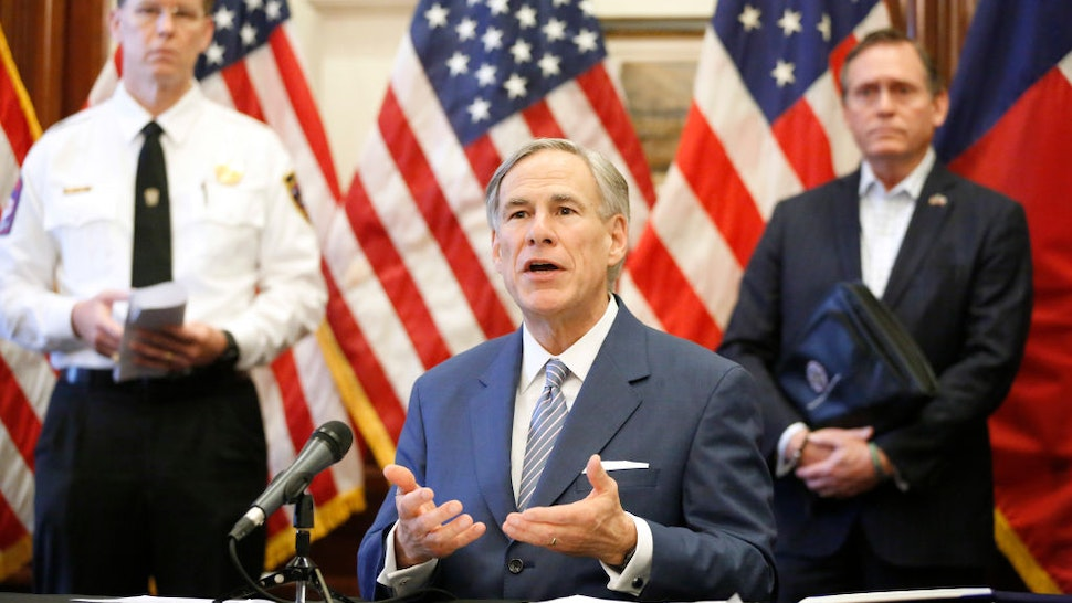 Texas Governor Greg Abbott announced the US Army Corps of Engineers and the state are putting up a 250-bed field hospital at the Kay Bailey Hutchison Convention Center in downtown Dallas during a press conference at the Texas State Capitol in Austin, Sunday, March 29, 2020.