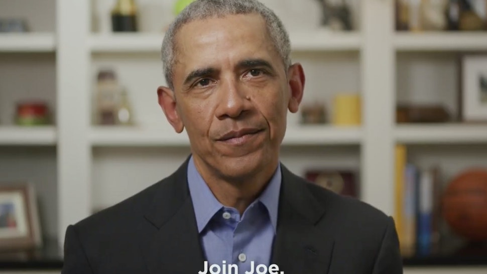UNKNOWN LOCATION - APRIL 14: In this screengrab taken from Twitter.com, former U.S. President Barack Obama endorses Democratic presidential candidate former Vice President Joe Biden during a video released on April 14, 2020. (Photo by Twitter via Getty Images)
