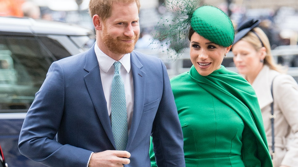 LONDON, ENGLAND - MARCH 09: Prince Harry, Duhcess of Sussex and Meghan, Duchess of Sussex attends the Commonwealth Day Service 2020 on March 09, 2020 in London, England. (Photo by Samir Hussein/WireImage)
